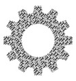 cogwheel collage of wrench icons vector image
