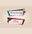 colorful christmas banners set vector image