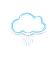 cute sticker clouds with rain on white background vector image