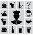 cutlery icon set vector image