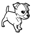 dog coloring page vector image