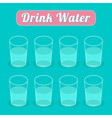 Drink eight glasses of water Infographic Flat desi vector image