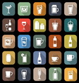 Drink flat icons with long shadow vector image vector image