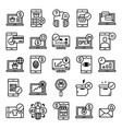 e-commerce line icon set on white background vector image vector image