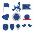 european union flag icons set symbols eu flag vector image vector image
