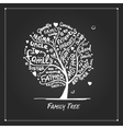Family tree sketch for your design vector image vector image