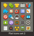 flat icon-set 2 vector image vector image