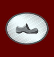 flat shading style icon footwear shoe vector image vector image
