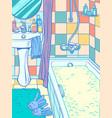 full bath in bathroom vector image
