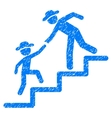 Gentleman Education Steps Grainy Texture Icon vector image vector image