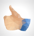 Geometric abstract like button up hand vector image