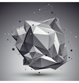 Geometric monochrome polygonal structure with wire vector image vector image