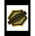 Gold rhomboid icon vector image vector image