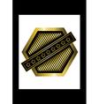Gold rhomboid icon vector image