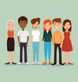 group of friends characters vector image vector image