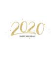 handwritten golden lettering 2020 numbers vector image vector image