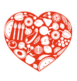 Healthy food heart vector image vector image