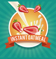 instant oatmeal label vector image