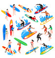isometric surf set vector image vector image