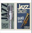 jazz concert banner 3 vector image vector image