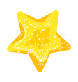 jelly star icon cartoon style vector image