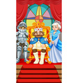 King and queen at the throne vector image vector image