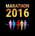 Marathon background vector image