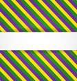 Mardi gras background with banner vector image vector image