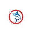 marlin jump fish logo and symbols icon vector image