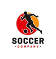 modern football logo design vector image vector image