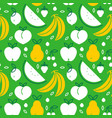 organic fruit food seamless pattern icons vector image