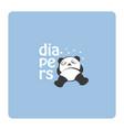 panda sleeps in diapers cartoon logo concept vector image vector image