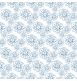 pattern with stylized flowers seamless vector image vector image