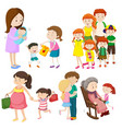 people in family at different generations vector image vector image