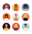 people portraits icons vector image vector image