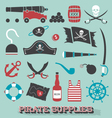 Pirate Supplies Silhouettes and Icons