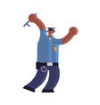 police officer using stick african american vector image