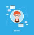 programmer woman character vector image vector image