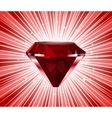 Red diamond shine background vector image vector image