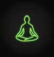 relaxation concept neon icon in line style vector image vector image