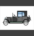retro old car or vintage retro collector vehicle vector image