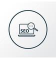 search optimization icon line symbol premium vector image vector image