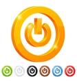 set 7 power button symbol vector image vector image