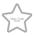 silver chain star border frame wreath starry vector image vector image