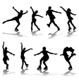 skaters vector image vector image
