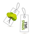 Spring Sale White Labels with Tree Isolated on vector image vector image