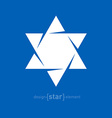 Star of David abstract design element vector image vector image