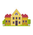 suburban mansion or countryside private house vector image vector image