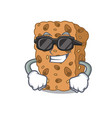 super cool granola bar character cartoon vector image