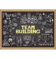 Team building on chalkboard vector image vector image
